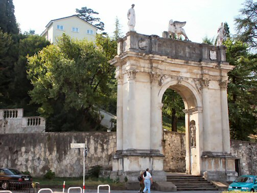 Arco delle scalette at the foot of Monte Berico in Vicenza