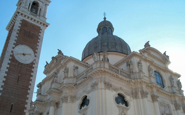 The church on top of Monte Berico in Vicenza