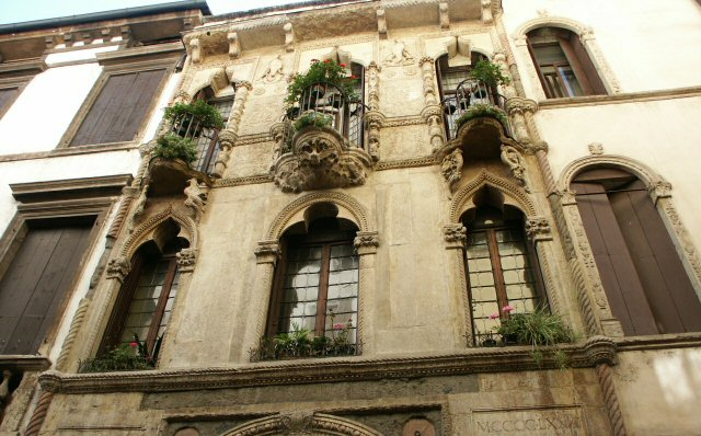 House of Pigafetta in Vicenza near the square